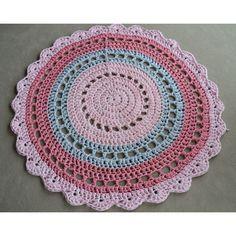 Handmade Crochet Floor Rug Doily by AshandKay on Etsy