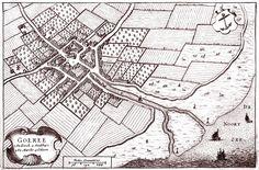 Plattegrond van Goeree (ZH) in 1649 door Blaeu uitgegeven. Goedereede.