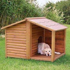 niche avec terrasse pour grand chien