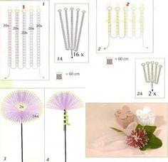 схема плетения хризантемы из бисера