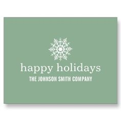 #Mint Snow Flake #Christmas Business Post #Cards