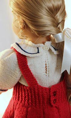 Doll dress knitting patterns - gorgeous celebration dress for you doll