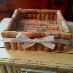 DIY Napkin holder made out of wine corks