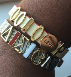 KEEP Collective custom designed piece. Mesh bracelet, Delta Sigma Theta!