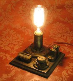 Edison Conrow Desk Lamp Vintage Antique Light Victorian Industrial Streampunk   eBay