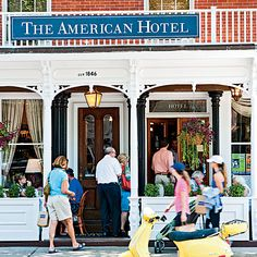 Where to Stay: The American Hotel Built in 1846, it remains at the epicenter of Sag Harbor life. It has eight spacious rooms, a four-bedroom apartment, and a 75-foot Trumpy motor yacht. Its French-American restaurant and classic, dimly-lit bar offer a renowned wine list. Tea, drinks, and light fare are served in the front parlor and on the front porch. Call for seasonal rates; 631/725-3535 or theamericanhotel.com.
