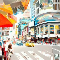 Colourful, energetic paintings of country, sea and cityscapes by Josef Kote.  Read more on Creativeboom.com/art  #FineArt #ArtLoversDaily #CreativeBoom #JosefKote #Cityscapes #Paintings