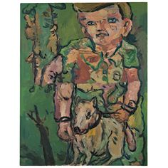 Georg Baselitz, (Lot 31) Hundejunge (Dog Boy), 1966.