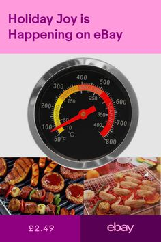 Stainless Steel Barbecue Thermometer Gauge Party Home BBQ Temperature Grill Pit Bbq Grill, Barbecue, Grilling, Skewer Sticks, Bbq Set, Essentials, Charcoal Bbq, Kitchen Oven, Barbacoa