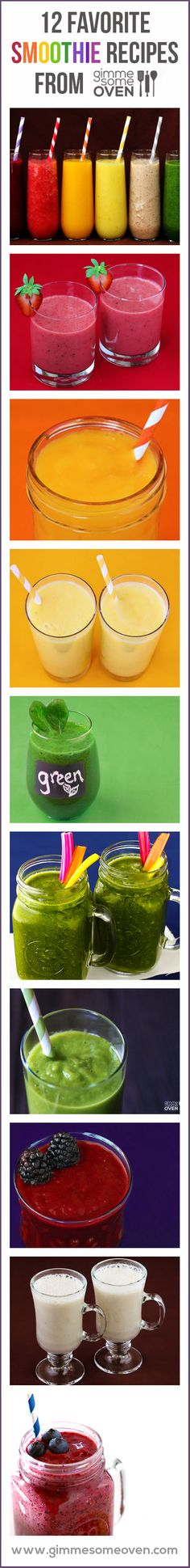 A great list of delicious (and healthy!) smoothie recipes to try this year!