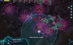 """Infested Planet (""""innovative real-time strategy game in which the players outsmart a horde of 100,000 aliens with an elite team of 5."""") http://www.rocketbeargames.com/infestedplanet/index.html"""