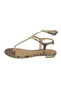 Update your wardrobe with this fun snake print ankle strap flat thong sandal by Schutz Shoes. Snake Anklestrap Sandal by Schutz. Shoes - Sandals - Flat Pennsylvania