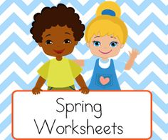 Spring  Worksheets for teaching reading.