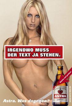 Was dagegen? Advertising Ads, Creative Advertising, Martini, Gq, Vodka, Beer Poster, Great Ads, German Beer, Beer Signs