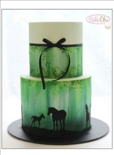 Horse silhouette cake More