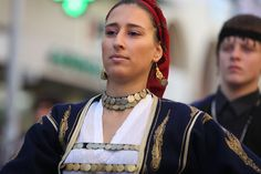 Crete oxi_day_parade_064 by cinematographer, via Flickr Greek Costumes, Folk Dance, Historical Costume, Crete, Traditional Outfits, Jasmine, Turquoise Necklace, Flower, Clothing