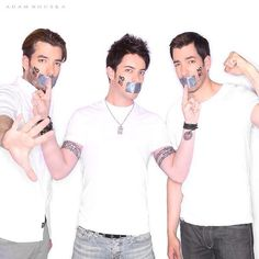 In honor of Brothers & Sisters Day, here's the first photo from the #NOH8 campaign I did with @Drew Scott  @JD Scott . Remember to support your family & love them for who they are!