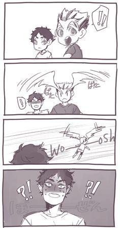 #Haikyuu comic Bokuto & Akaashi (Twitter: mookie000)