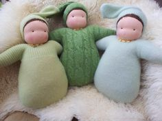 Some of my Baby Buntings by ThePuppenstube.com   waldorf babies