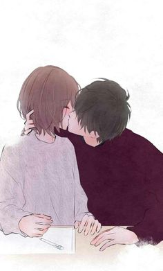 New Ideas For Drawing Couple Anime - amor de locura - Dessin Anime Couple Kiss, Couple Manga, Cute Anime Couples, Anime Couples Hugging, Couple Hugging, Couple Kissing, Anime Couples Manga, Anime Boys, Manga Anime