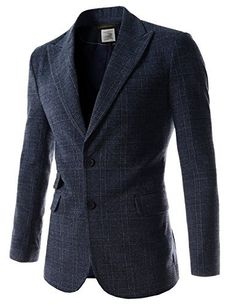Navy and brown large-Mens Slim Peaked Lapel Single Breasted Plaid Pattern 2 Button Blazer, http://www.amazon.com/dp/B00N4RZNFI/ref=cm_sw_r_pi_awdm_FPr7vb0S6D01V