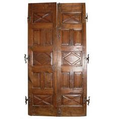 Antique Walnut Double Entry Door | From a unique collection of antique and modern doors and gates at https://www.1stdibs.com/furniture/building-garden/doors-gates/