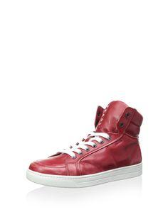Prada Men's Hightop Sneaker at MYHABIT Prada Sneakers, High Top Sneakers, Prada Men, High Tops, Footwear, Mens Fashion, Peacocks, Clothes, Shoes