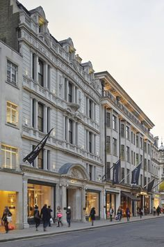 This mixed office and retail development at the heart of New Bond Street, one of London's premier retail streets, involved the partial demolition, rebuilding and renovation of a Grade II listed building, including its elaborate Beaux-Arts facade. London City, London Shopping Street, London Travel, City Aesthetic, Travel Aesthetic, Places To Travel, Places To Go, Estilo Madison Beer, London Dreams