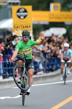 Peter Sagan win Saitama Criterium 2016 Green Sprint Jersey Celebration ©Tim De Waele