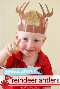 You need some of our Printable Reindeer Antlers!   Part of picklebums.com Christmas printables series