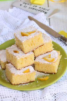LIMONOTTI SENZA BURRO ricetta quadretti soffici al limone