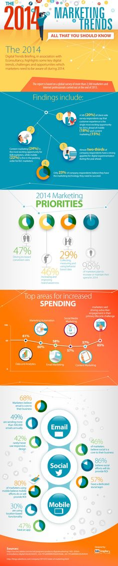 A neat infographic - from Digital Trends Briefing and eConsultancy study of more than 2500 marketers and internet professionals...