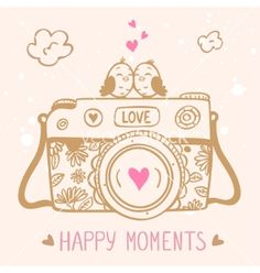 Illustration about Illustration sketch vintage retro photo camera with cute birds. Illustration of drawing, monochrome, line - 43999373 Camera Clip Art, Camera Sketches, Cute Camera, Retro Camera, Doodle People, Bird Poster, Quotes About Photography, Cute Birds, Cartoon Pics