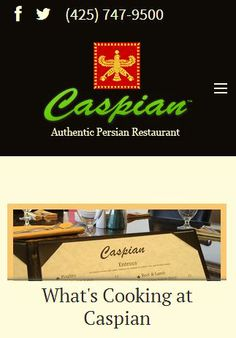 """New Featured Website Launched: http://www.caspianbellevue.com/  """"Caspian Restaurant goal is to share the richness and flavor of the Persian culture, an ancient civilization with unparalleled architecture, poetry and art, with the people of Washington."""""""