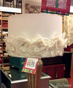 Inspired DIY Rosette Lampshade For Nursery