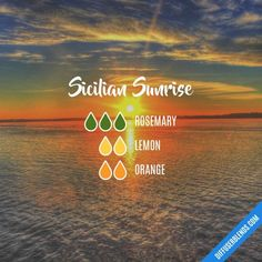 Sicilian Sunrise - Essential Oil Diffuser Blend by lenora