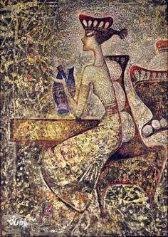 Сипрошвили Гиви. Разбитая жизнь  холст/масло, смешанная техника 70см x 50см 2009 г.