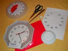 Alle Zutaten für den selbstgebauten TimeTimer