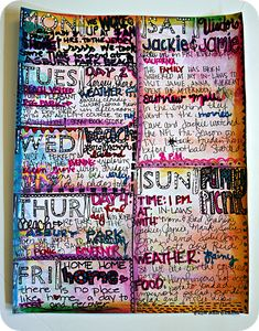 Art Journal Page by Julie Ann Shahin, result from {Studio Box Workshops No. 1} Buildable Art Journals offered from Tangie Baxter