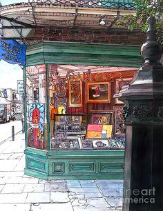 French Quarter Art Gallery ~ Artist: John Boles ~ Watercolor