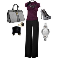 A fashion look from October 2012 featuring Giambattista Valli blouses, Donna Karan pants and Yves Saint Laurent pumps. Browse and shop related looks.