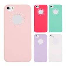 Plastic Cute Sweet Peach Heart Protection Case Cover Skin for Apple iphone 5 S9
