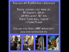 Tuesday 05.11.2013 Daily HIIT a Workout HowTo