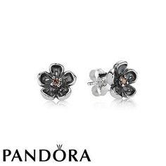Pandora Tourmaline Zirconia Flower Studs 80490
