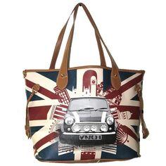 London Mini Union Jack printed hand bag ($48) ❤ liked on Polyvore