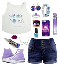 """""""Cabin 18: Hebe"""" by ruthw422 ❤ liked on Polyvore featuring Converse, Casetify, Miadora, Swarovski, Lime Crime, OPI, Perry Ellis, young and percyjackson"""