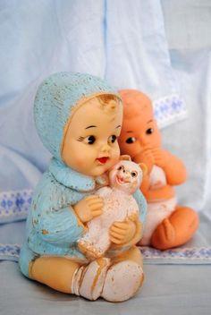 Boneca Carinhosa e Boneco Gulozinho 70's