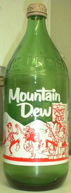 antique Mt. Dew bottle