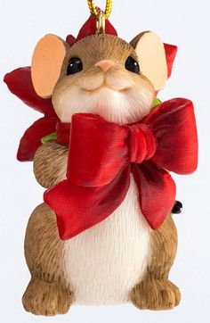 CHARMING TAILS ~ PRETTY LITTLE GIFT FOR YOU~ MOUSE ORNAMENT ~4046958~CHRISTMAS