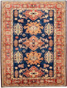 Navy Blue 6' 1 x 8' Kazak Oriental Rug   rug's SKU # is 22143101   eSaleRugs